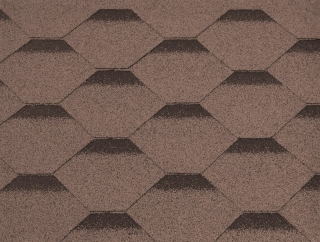 GUTTATEC HEXAGONAL HNĚDÁ - 317 x 1000 mm