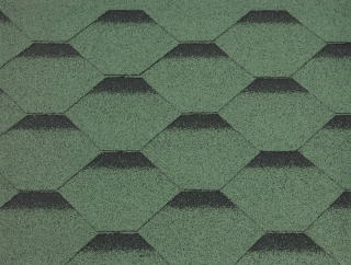 GUTTATEC HEXAGONAL ZELENÁ - 317 x 1000 mm